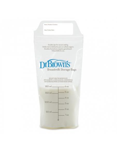 WORECZKI Dr. Brown's DO PRZECHOWYWANIA POKARMU 180ML, 25SZT.