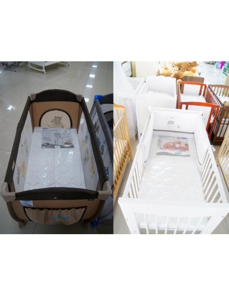 Materac 120x60 kokos-lateks Beticco Baby Jony Srebra