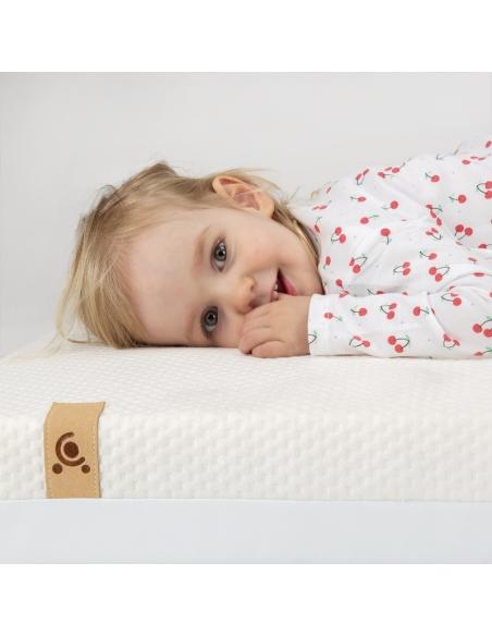 Materac 140x60 Cuddleco do łóżeczka Signature bambus, sprężyny kieszeniowe