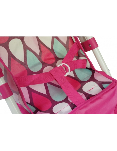 Wózek dla lalek trójkołowy duży Beticco