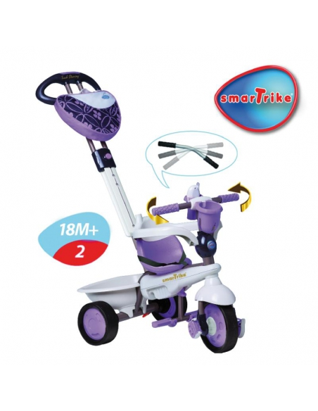 Pojazd/Rowerek Smart Trike 4w1 - Dream Touch Steering - fioletowy