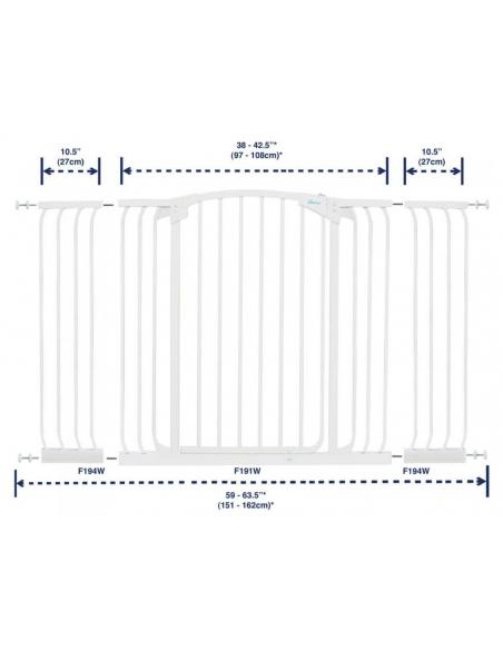Bramka bezpieczeństwa Chelsea - szeroka (W: 97-106cm x H: 1m)