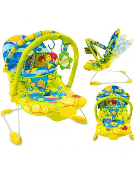 Beticco Baby Leżaczek 2 pałąki z zabawkami 3-9 kg
