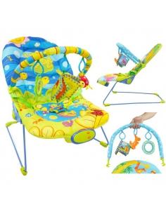 Beticco Baby Leżaczek dla dzieci z melodyjką i wibracjami 3-9 kg