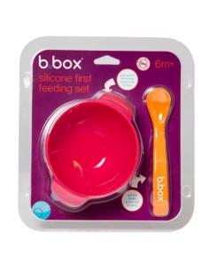 B.Box Silikonowa miseczka z łyżeczką i przyssawką
