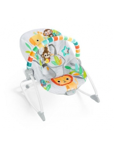 Bright Starts Leżaczek Safari Blast Infant to Toddler Rocker 12323