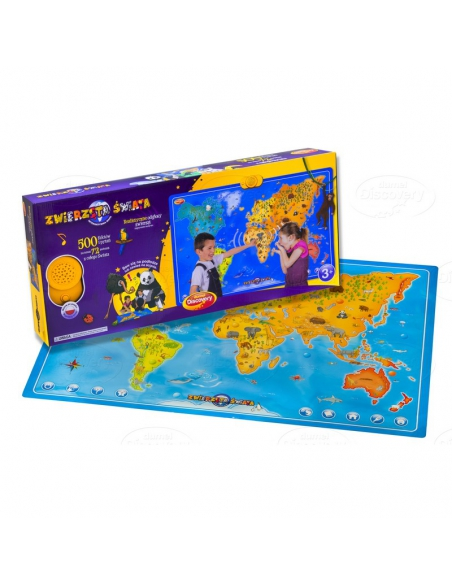 Dumel Zwierzęta Świata Interaktywna Mapa DD60846